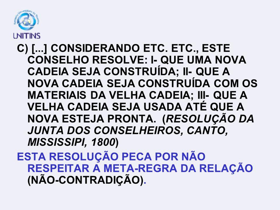 C) [. ] CONSIDERANDO ETC. ETC